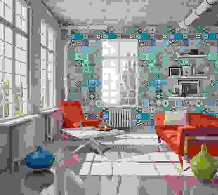 Azulejo Português Coordenado Azul OH Wallpaper Walls & flooringWallpaper Paper Blue