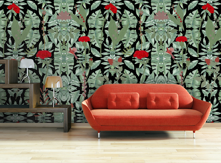 Cravo Preto OH Wallpaper Walls & flooringWallpaper Paper Black
