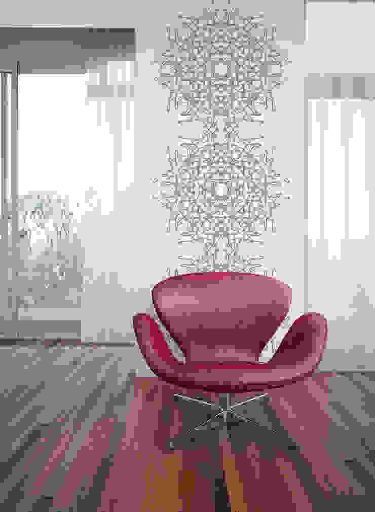 Filigrana Bola Cinzento por OH Wallpaper Moderno Papel
