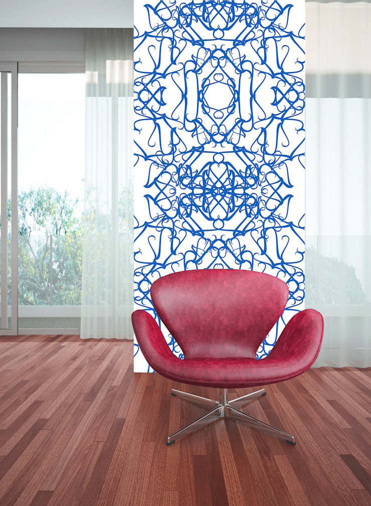 Filigrana Azul por OH Wallpaper Moderno Papel