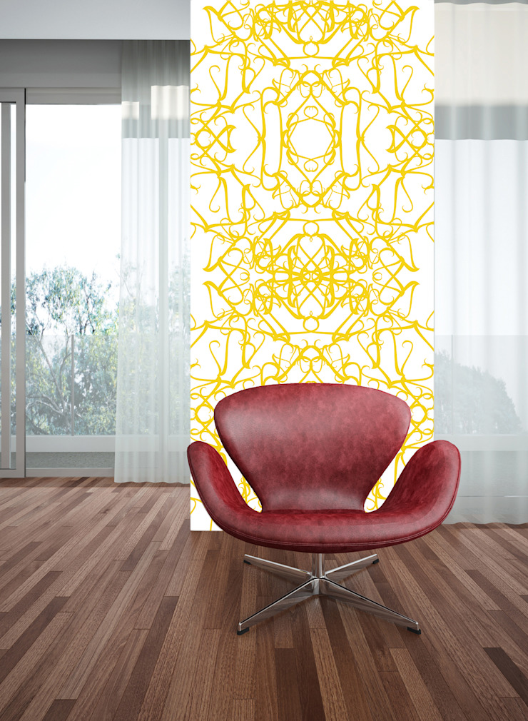 Filigrana Amarelo por OH Wallpaper Moderno Papel