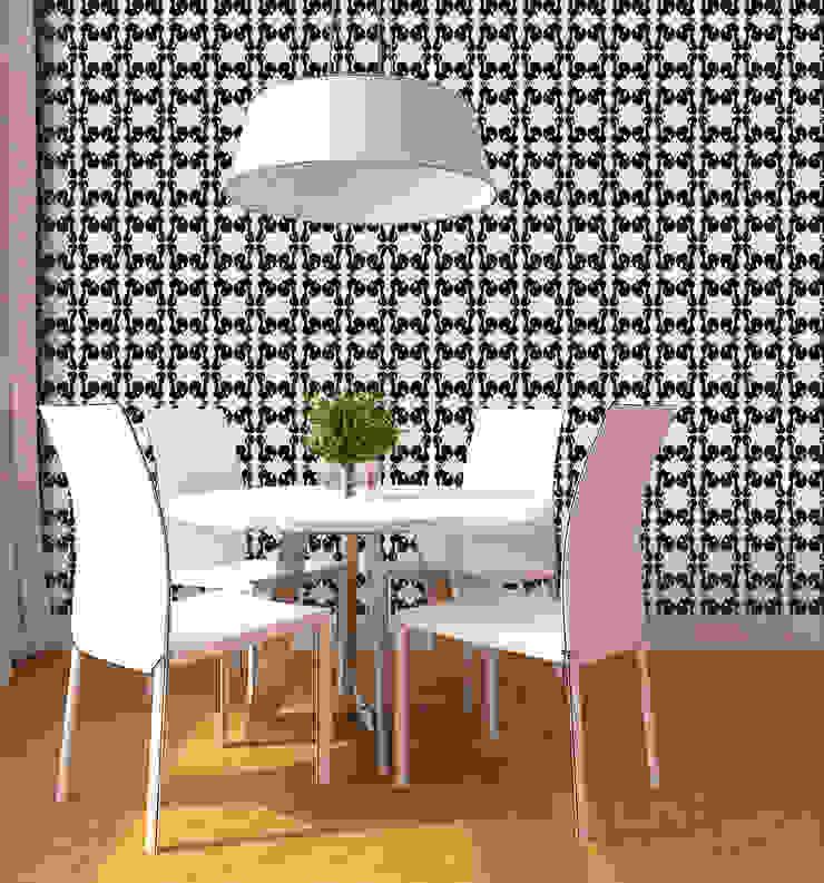 Galo Preto por OH Wallpaper Moderno Papel