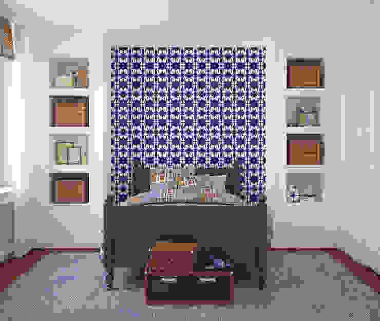 Galo Azul por OH Wallpaper Moderno Papel