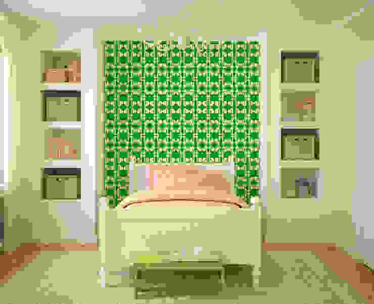 Galo Verde por OH Wallpaper Moderno Papel