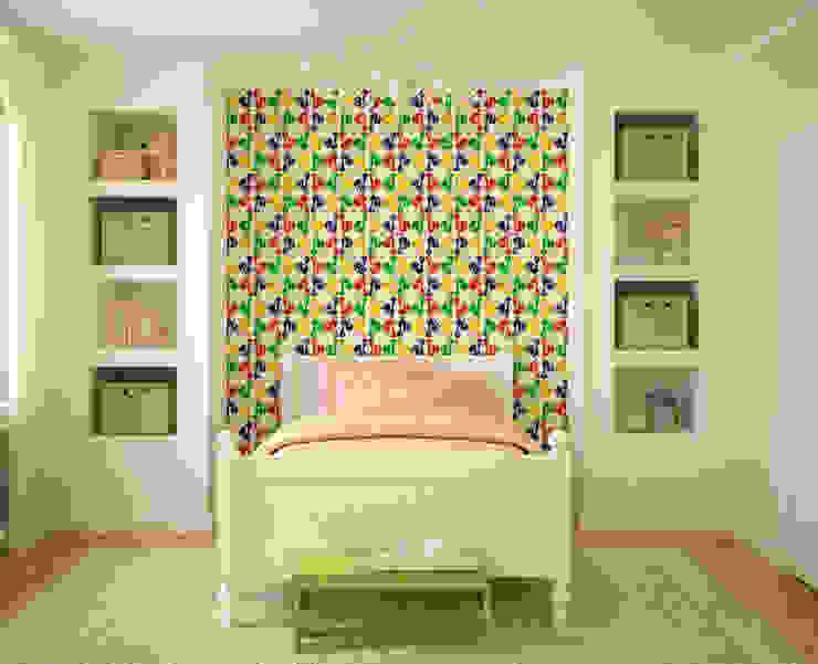 Galo Colorido por OH Wallpaper Moderno Papel