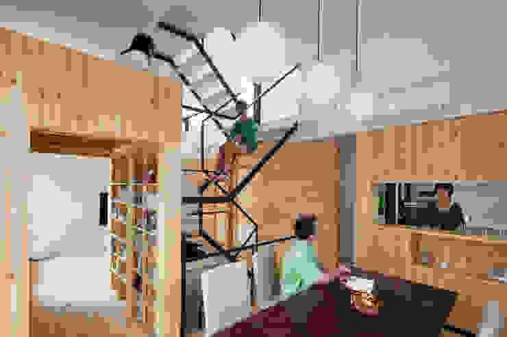 カフェのある家 設計事務所アーキプレイス モダンデザインの ダイニング