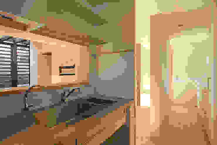 カフェのある家 設計事務所アーキプレイス モダンな キッチン