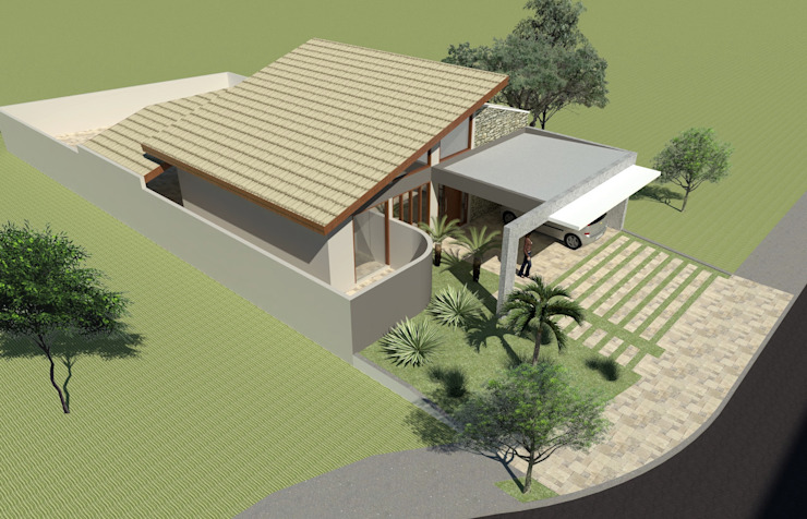 Casas estilo moderno: ideas, arquitectura e imágenes de Hamilton Turola Arquitetura e Design Moderno