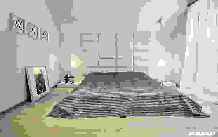 Dormitorios modernos de Mono architektura wnętrz Katowice Moderno