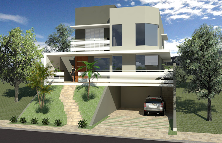 Casas de estilo  por Hamilton Turola Arquitetura e Design, Moderno