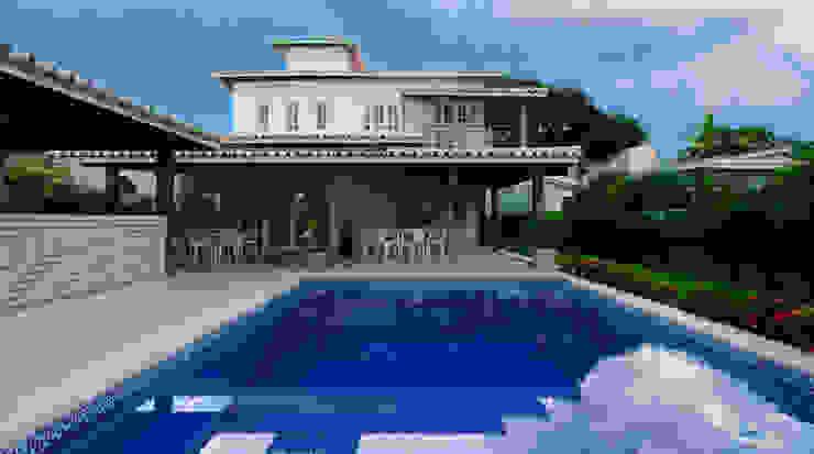 CHASTINET ARQUITETURA URBANISMO ENGENHARIA LTDA Tropical style houses Bricks Wood effect