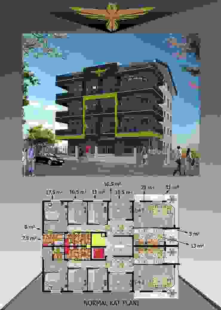 Hem Grup – Efser Apartmanı : modern tarz , Modern Aluminyum/Çinko