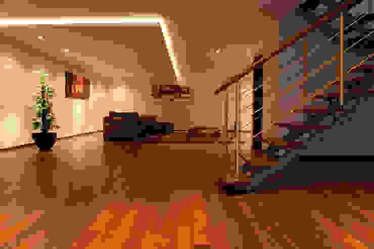 Salão amplo 100m2 Salas de estar modernas por Construções Couto Monteiro Moderno