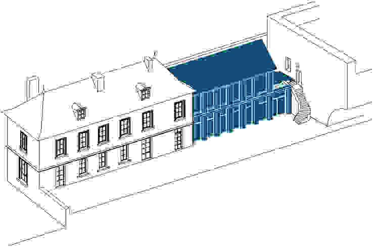 Belle Ville Atelier d'Architecture Classic style garage/shed