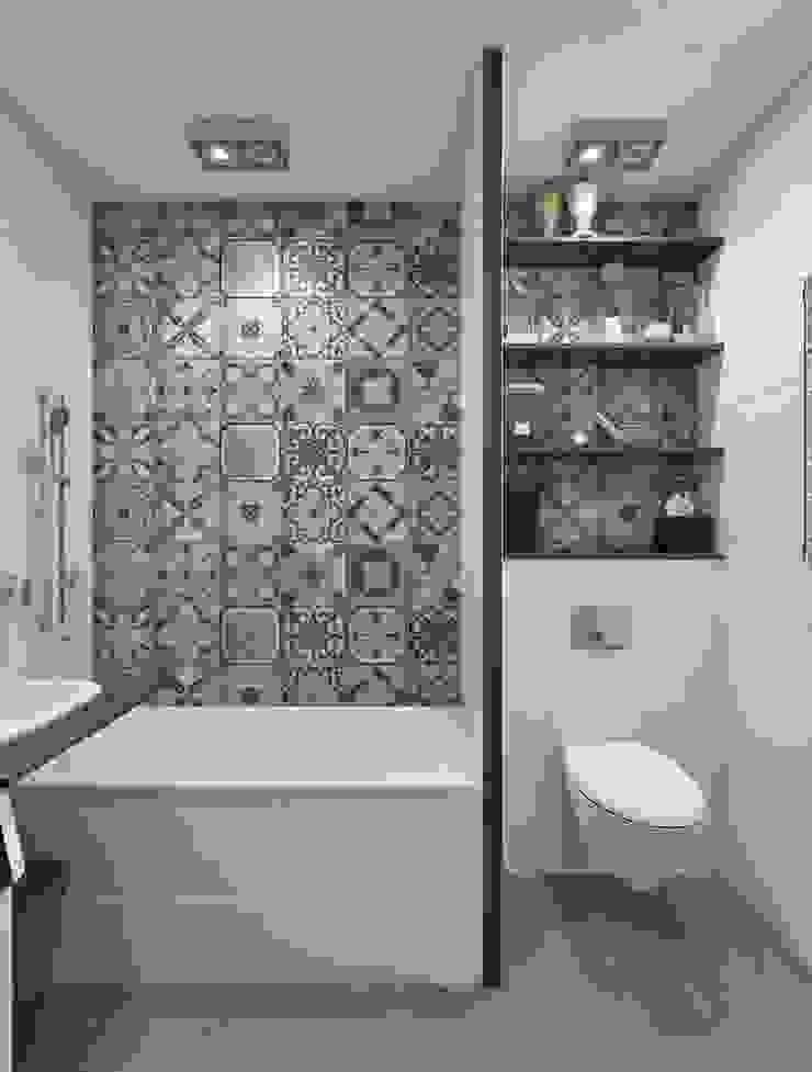 Ванная комната Ванная комната в скандинавском стиле от Pure Design Скандинавский