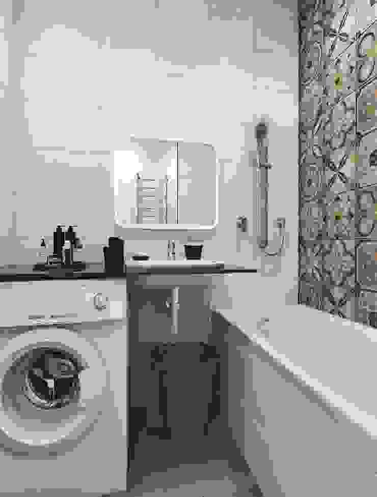 Вид на умывальник Ванная комната в скандинавском стиле от Pure Design Скандинавский