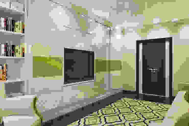 Вид на шкаф с встроенным ТВ Гостиная в стиле модерн от Pure Design Модерн