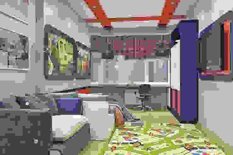 Вид на окно и рабочее место Детская комната в стиле модерн от Pure Design Модерн