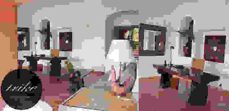 Escritorio de madera:  de estilo tropical por Trike Interiorismo, Tropical Madera maciza Multicolor