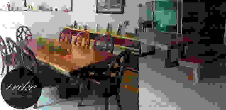 Tablon mesa Parota:  de estilo colonial por Trike Interiorismo, Colonial Madera maciza Multicolor