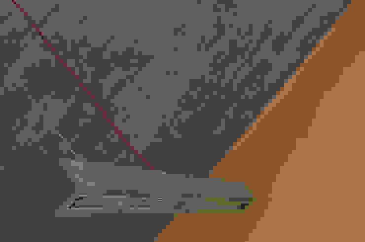 Hº2 - Lampara de Colgar de Concreto LED 2 de Estudio Indo Minimalista Concreto reforzado