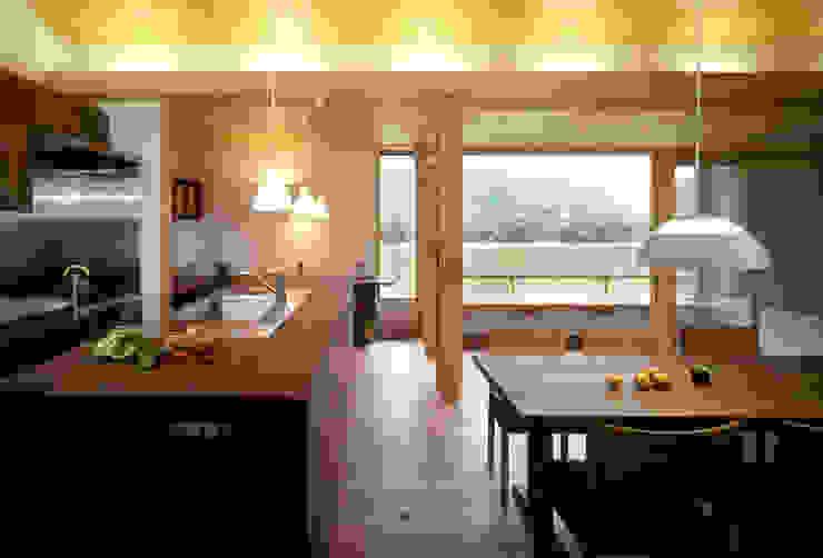 静岡の家 case004 オリジナルデザインの ダイニング の 岩川アトリエ オリジナル