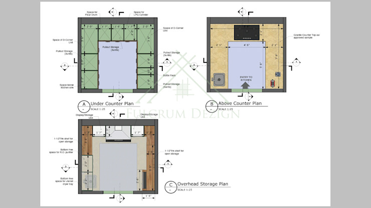 Kitchen Design Interiors Modern kitchen by Fulcrum Dezign Modern