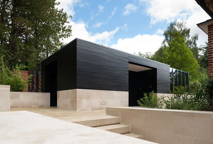 Itchen Greenhouse Ayre Chamberlain Gaunt Garage/Rimessa minimalista