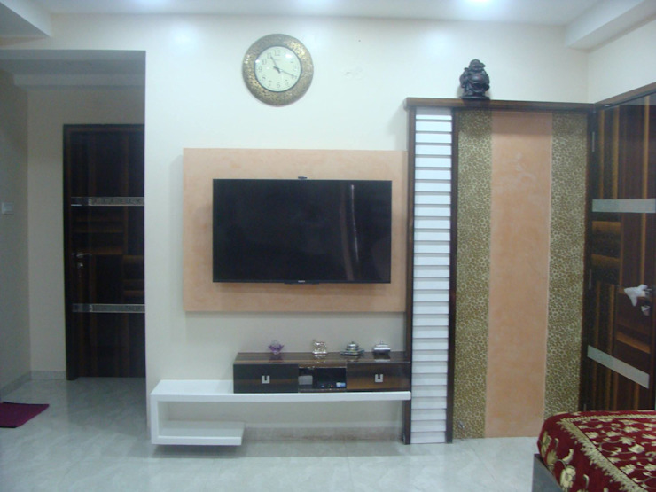 Independent Bunglow—Secunderabad , Hyderabad. Modern living room by Nabh Design & Associates Modern