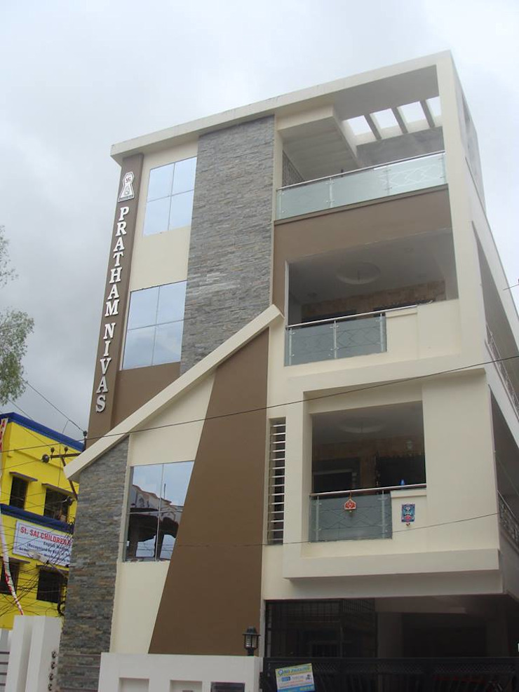 Independent Bunglow—Secunderabad , Hyderabad. Modern houses by Nabh Design & Associates Modern
