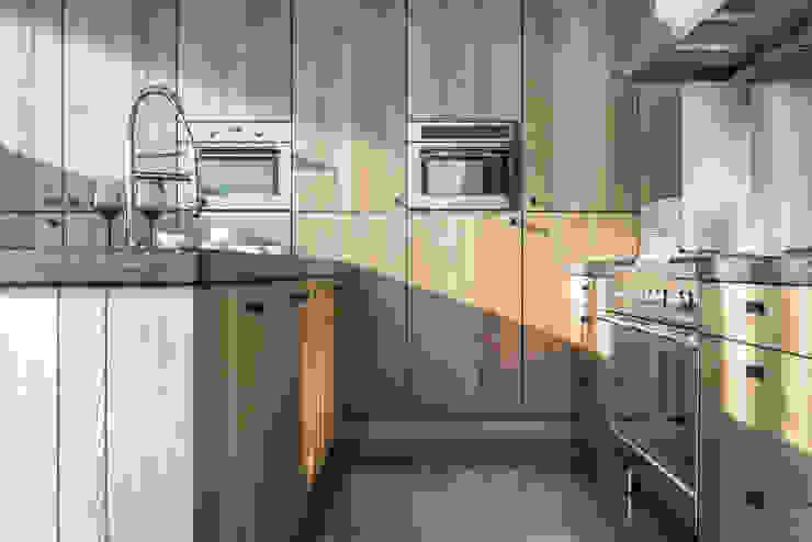 Pure PQ furniture knob in Raw Metal Dauby KitchenStorage
