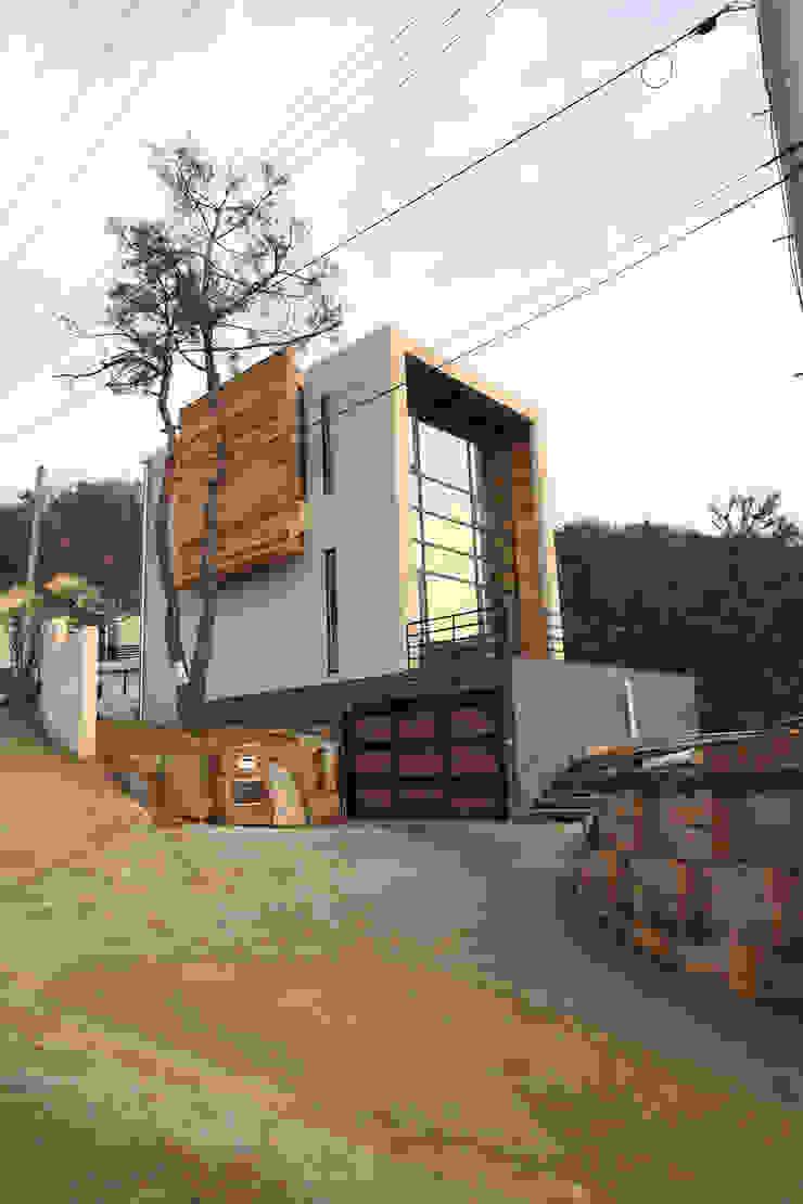 M 하우스 전경 SG international 모던스타일 주택 콘크리트 베이지