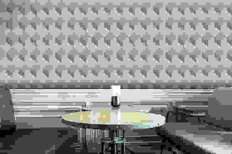 Cubo Bege e Castanho por OH Wallpaper Moderno Papel