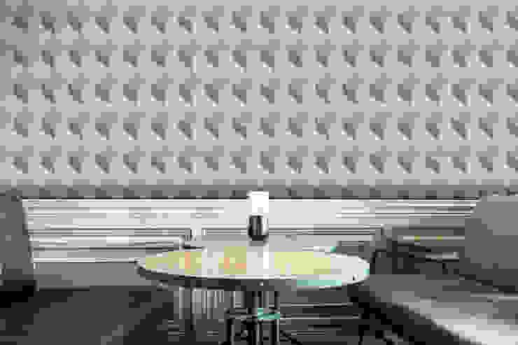 Cubo Cinzento Claro por OH Wallpaper Moderno Papel