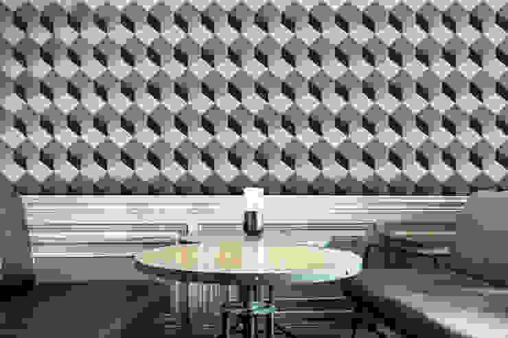 Cubo Cinzento Escuro por OH Wallpaper Moderno Papel