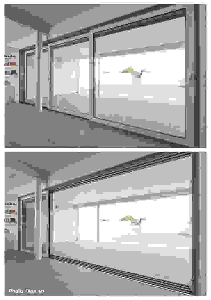 Margherita Mattiussi architetto 窗戶與門窗戶 鋁箔/鋅 White