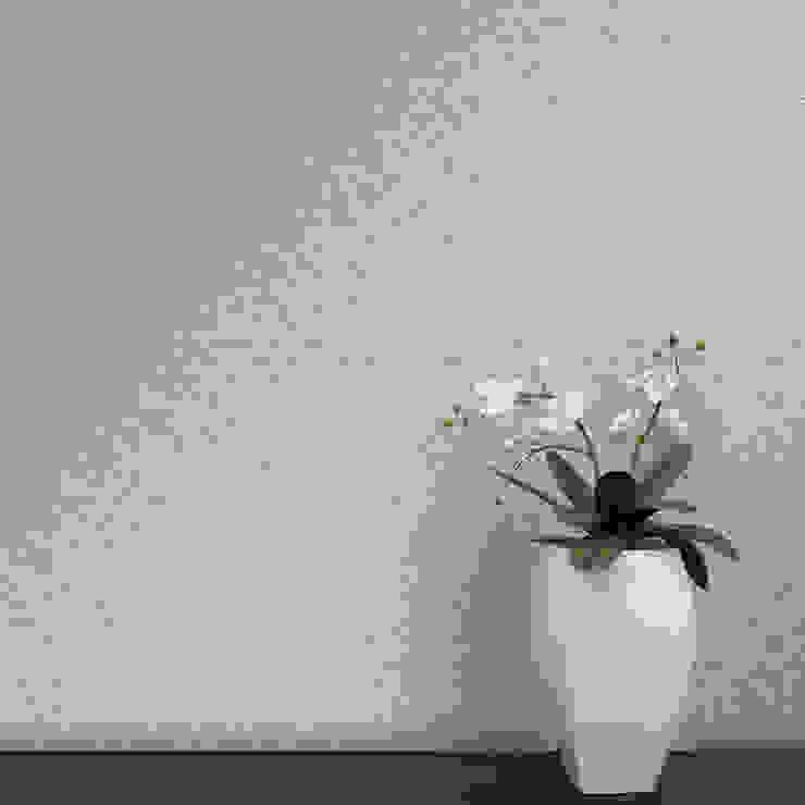 Cubo Coordenado Cinzento por OH Wallpaper Moderno Papel