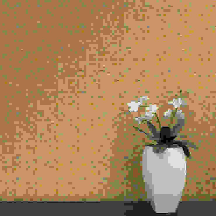 Cubo Coordenado Laranja por OH Wallpaper Moderno Papel