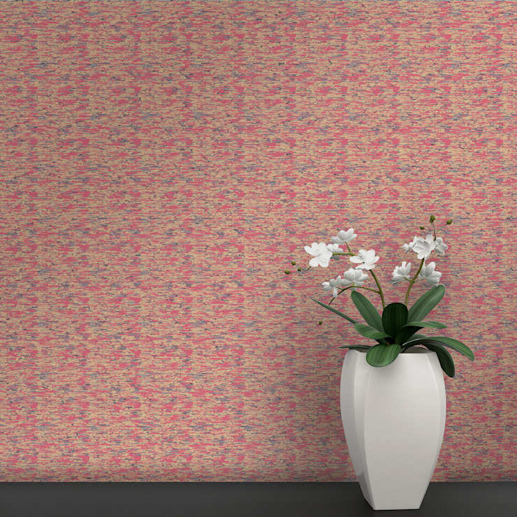 Cubo Coordenado Rosa por OH Wallpaper Moderno Papel
