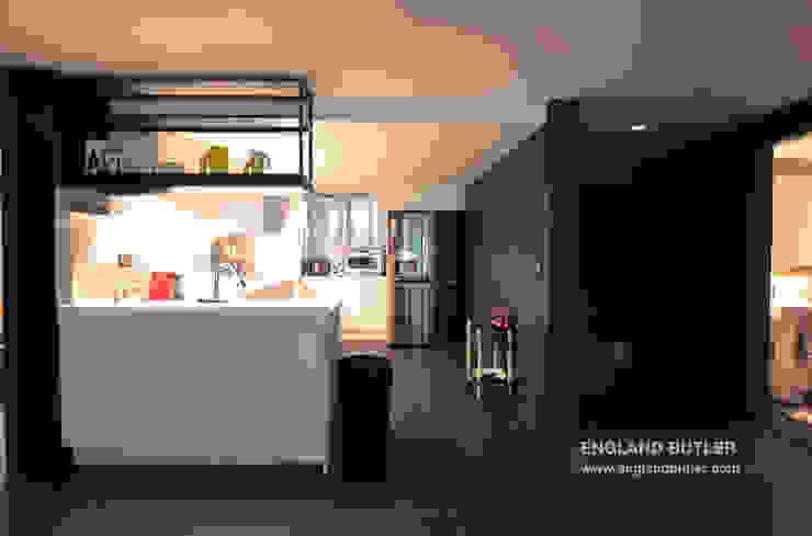 분당 K 하우스: 잉글랜드버틀러의 현대 ,모던 철 / 철강
