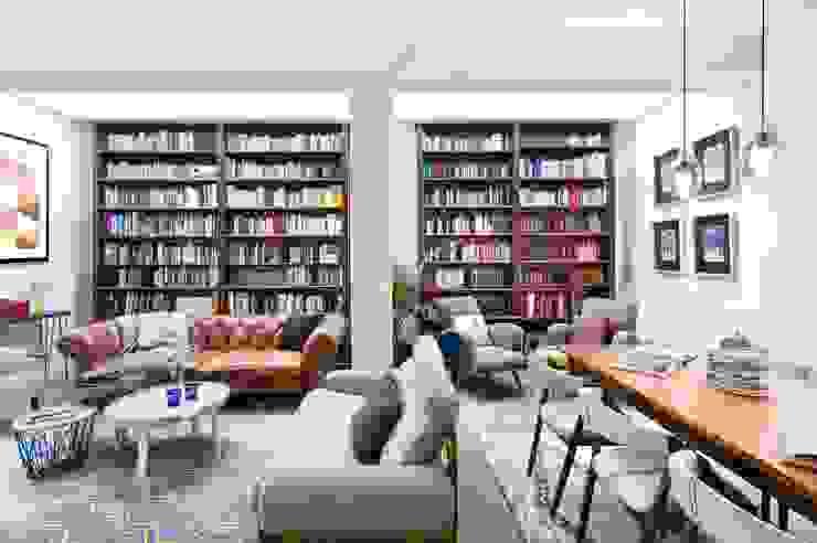 Una Casa de Libro Salas modernas de Egue y Seta Moderno