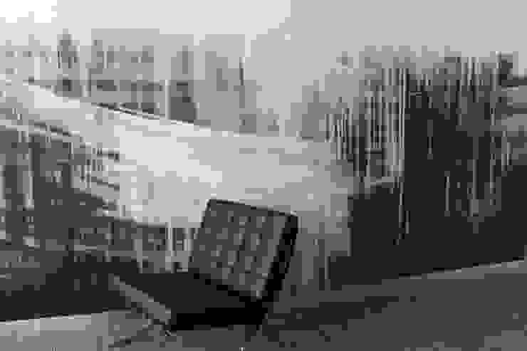 ściana w biurze od Artystyczne Malowanie Ścian Nowoczesny