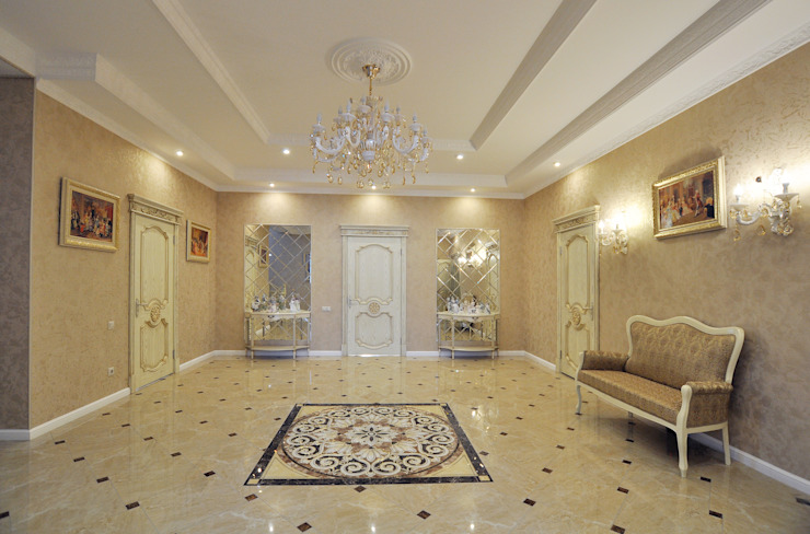 Classic corridor, hallway & stairs by Tutto design Classic