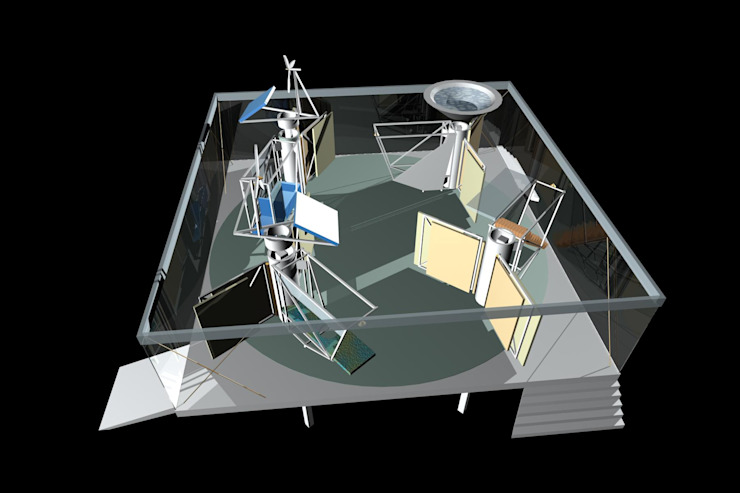 dom-ino / palladio feedback house Moderne woonkamers van hans moor architects Modern IJzer / Staal