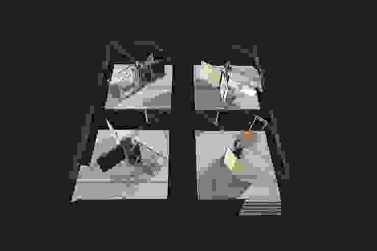 dom-ino / palladio feedback house Moderne huizen van hans moor architects Modern IJzer / Staal