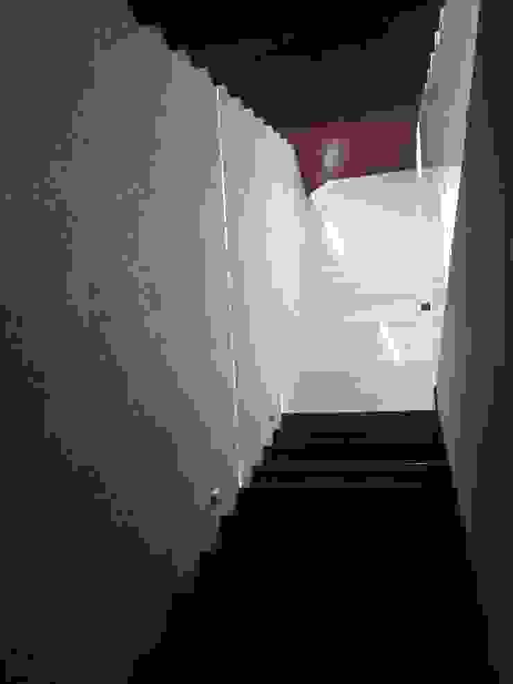 escalera doble Pasillos, vestíbulos y escaleras minimalistas de iarkitektura Minimalista Madera Acabado en madera