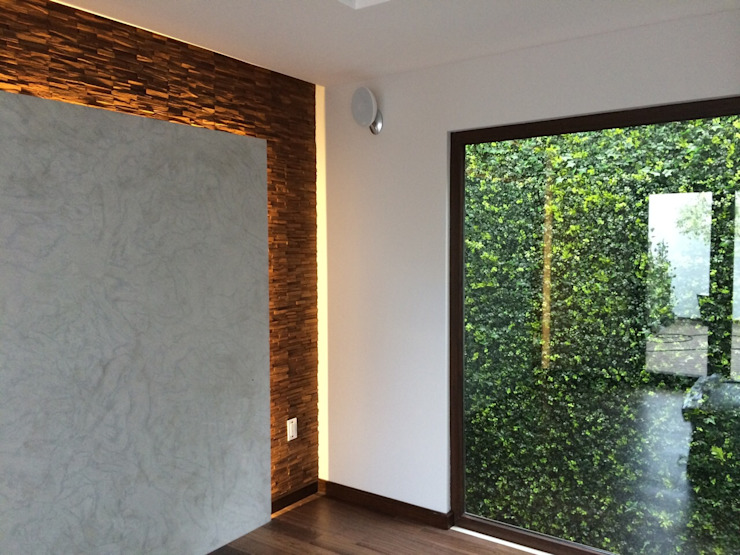 muro verde Comedores minimalistas de iarkitektura Minimalista Caliza