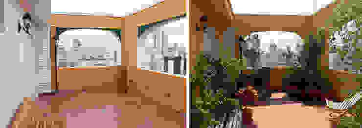 Hiên, sân thượng phong cách mộc mạc bởi Renata Villar Paisagismo e Arranjos Florais Mộc mạc