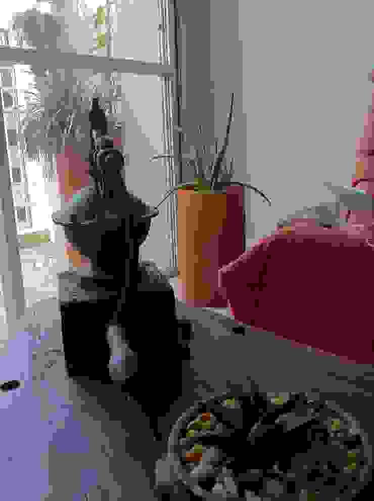 Renata Villar Paisagismo e Arranjos Florais Rustic style living room