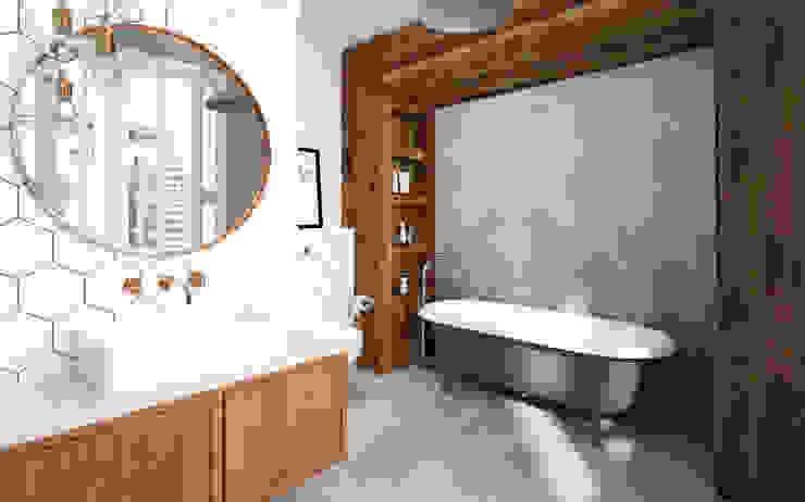 Kobiecy apartament: styl , w kategorii Łazienka zaprojektowany przez Krystyna Regulska Architektura Wnętrz,Eklektyczny